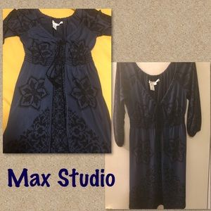 Max Studio Off the Shoulder Tie Dress Sz M